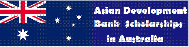 Asian Development Bank scholarships in Australia